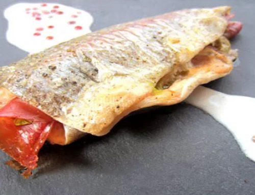 Trucha con jamón