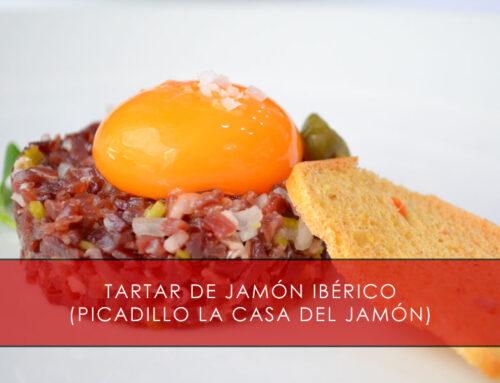 Tartar de jamón ibérico (tacos de jamón)