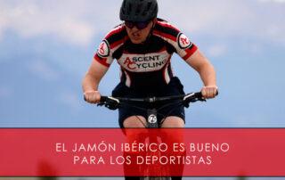 Jamón ibérico es bueno para los deportistas