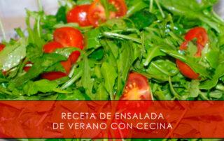 receta de ensalada de verano con cecina
