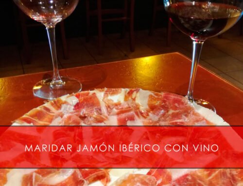Maridar jamón ibérico con vino