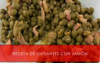 receta de guisantes con jamón