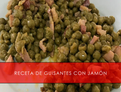 Receta de guisantes con jamón ibérico