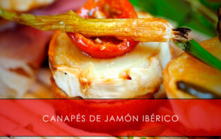 canapés de jamón ibérico