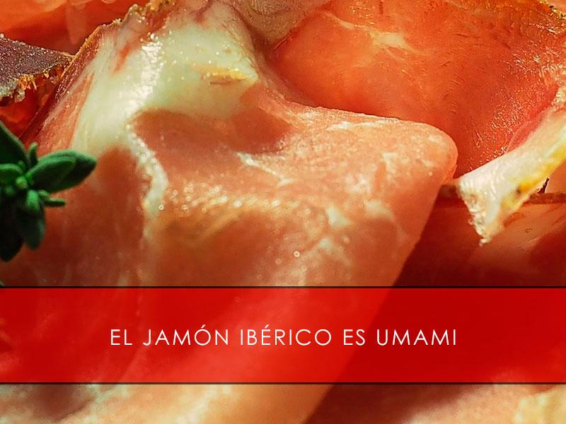 el jamón ibérico es umami