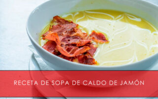 Sopa de caldo de jamón