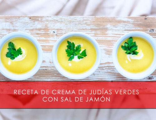 Crema de judías verdes con sal de jamón