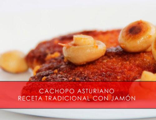 Cachopo asturiano, receta tradicional con jamón