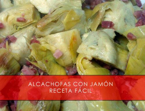 Alcachofas con jamón, receta fácil