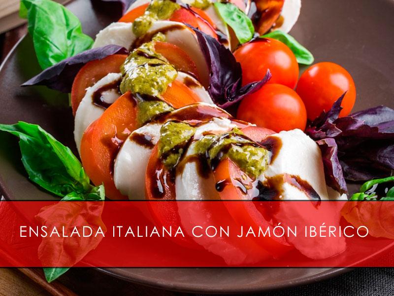 Ensalada italiana con jamón ibérico - La casa del Jamón