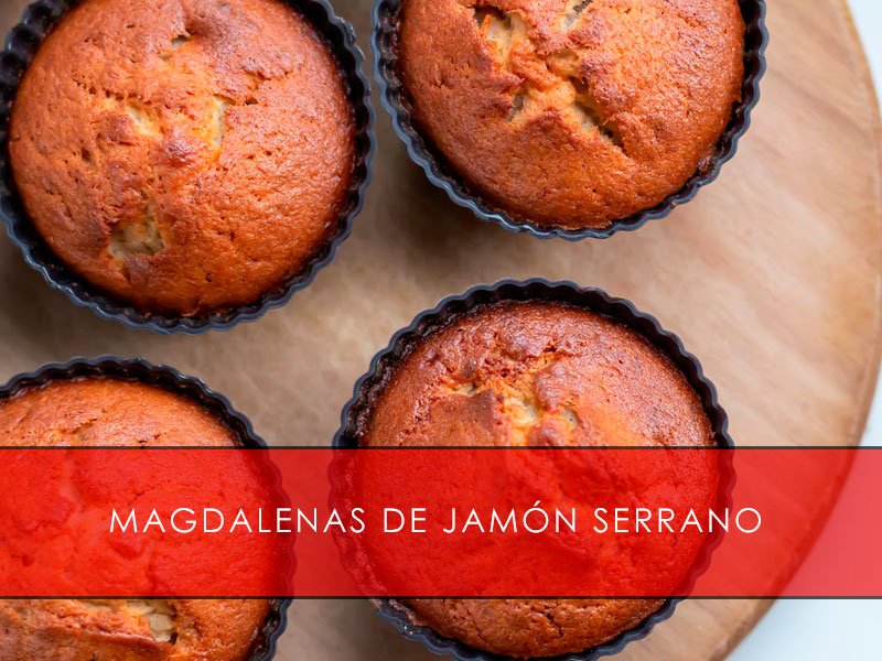 Magdalenas de jamón serrano - La Casa del Jamón